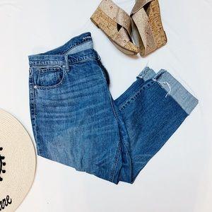 Old Navy Boyfriend Capri Distressed Jeans 18